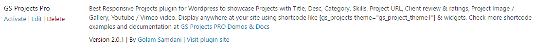 Activate GS Projects