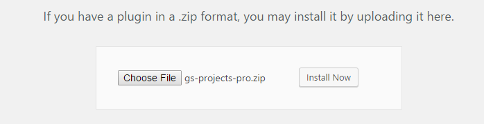 Select File gs Projects
