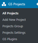 GS Project menu